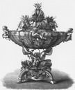 """Corbeille style Louis XV, exposée par M. Froment-Meurice."" フロマン=ムリス社出展のルイ15世様式のかご"